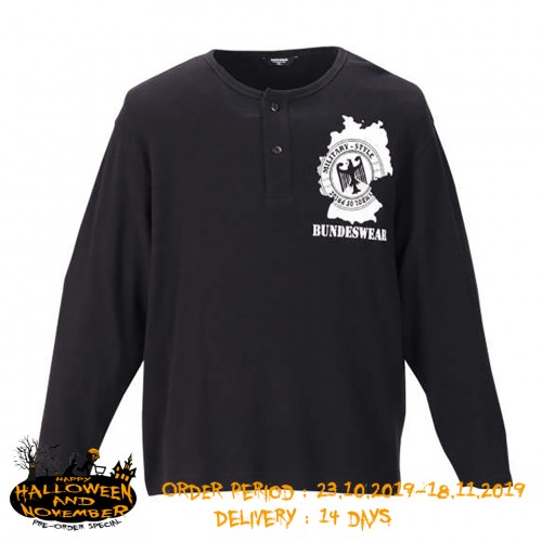 Waffle BW Patch L/S Tee - Black