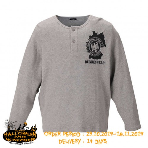 Waffle BW Patch L/S Tee - Grey