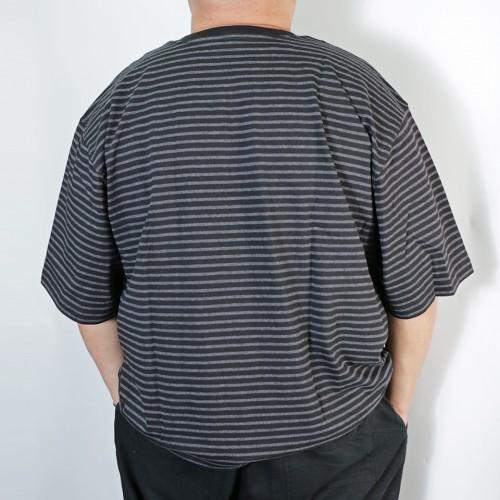 Simple S/S Pocket Tee - Black Stripe