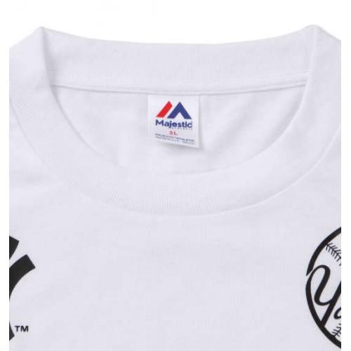 New York Yankees L/S Tee - White